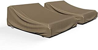 Budge P2A01BTNW3-2PK NeverWet Hillside 双露台躺椅躺椅(2 件装)优质户外防水(2 件装),黑色和棕褐色编织