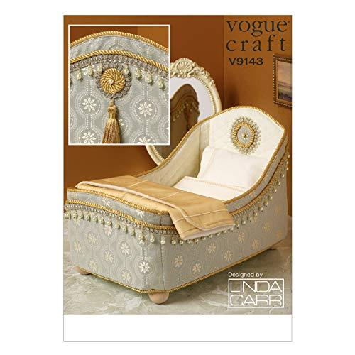 ヴォーグパターン9143 os 14インチ人形のベッドと寝具