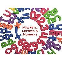 THICKER 磁性字母和数字 - 字母数字冰箱磁贴 - 26 个上层盒 ABC,26 个下层 abc,数字 123,算术品 - 总共 67 个字母儿童教育乐趣玩具套装符号学习 #1