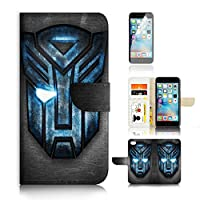 适用于 iPhone 6 Plus / iphone 6S PLUS ) 翻转钱包式和屏幕保护套装 A0165 Transformer Autobot