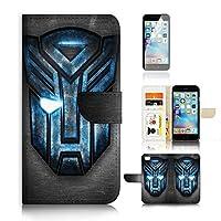 适用于 iPhone 6Plus / iphone 6S PLUS ) 翻转钱包式和屏幕保护套装 A0165Transformer Autobot