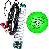 Green Blob 室外水下钓鱼灯,12 伏电池供电 LED 适用于 Boats15000/7500 流明 Snook,Crappie 冰