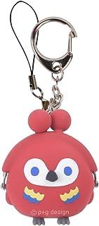 p+g design) 钥匙扣 红色 尺寸:W4.7×H5.4×D3.2cm 3D POCHI-Bit FRIENDS BIRD 褐色 PG-34601