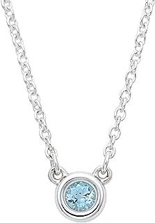 [蒂芙尼] TIFFANY 水蓝宝石 0.06ct 纯银 艾尔莎・柏瑞蒂 颜色 按码 吊坠项链 25224884