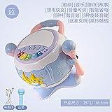 手拍鼓婴儿玩具鼓音乐拍拍鼓6-12个月0-1岁3益智幼儿童男孩女宝宝id=563249257685 (蓝色旋转鼓可充电+麦克风+充电线)