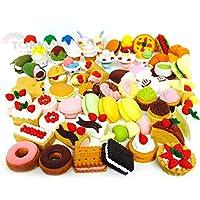 HappyKids 出品的糕点、甜甜圈、披萨、香蕉(4件/袋×12袋)日本拼图橡皮擦