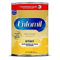 Enfamil 浓缩液体婴儿配方奶粉 - 13 液体盎司罐装(约 384.5 毫升)(12 件装)