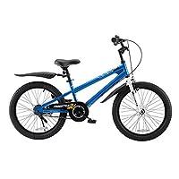 ROYALBABY 优贝 20寸儿童自行车表演车蓝色8岁以上萌宝礼物(亚马逊自营商品, 由供应商配送)