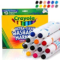 Crayola 绘儿乐 12色可水洗粗头水笔 58-7812