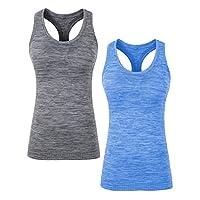 YAKER 背心女式跑步背心夏季健身房锻炼修身工字背心无袖衬衫
