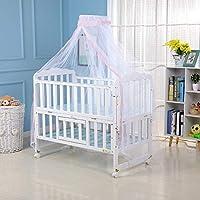 Ayunjia 1PC圆顶防虫帐篷罩婴儿床圆顶蚊帐婴儿儿童蚊帐新生儿可折叠蚊帐