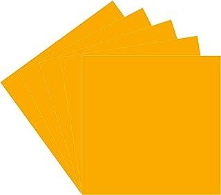 30.48 厘米 x 30.48 厘米永久粘合背衬乙烯基板,5 个装(光泽饰面)黄色 Oracal 651 适用于室内/室外标记、字母、装饰、标志、贴花、十字架窗户图形、剪影浮雕……