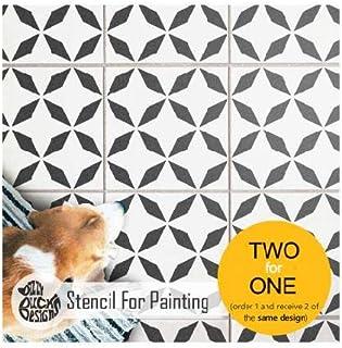 ZAROS 瓷砖模板用于墙壁和地板涂漆 | 可定制尺寸 30 cm (6 tile repeat)
