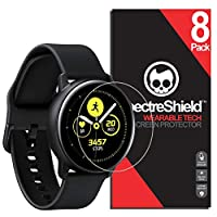 Spectre Shield(8 件装)屏幕保护膜,适用于 Samsung Galaxy Watch Active 2 (40mm) 或 Galaxy Watch Active Accessory Galaxy Watch Active2 (40mm) 或 Active1 保护壳友好全覆盖透明膜