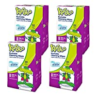 Kandoo Flushable Magic Melon Wipes 250 Count Refills (Pack of 4)