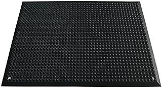 Miltex 17061 瑜伽人体工程学脚垫 65 x 95 厘米,Esd-Plus-B1,Ableitkabel 设计具有防静电和不燃,黑色
