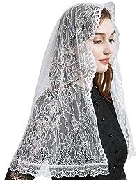 Mantilla Veil 教堂面纱 长方形蕾丝花朵面纱 Y073