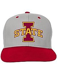 NCAA Youth Boys Grey Two Tone Flat Brim Snapback Hat