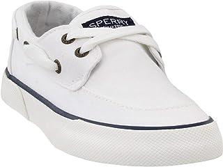SPERRY 女式码头船闪亮帆布鞋