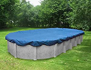 Pool Mate 541218 Econo-Mesh Winter Cover for Oval Above Ground Swimming Pool Caribbean Blue 12 x 24-Foot Pool
