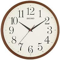 SEIKO CLOCK (セイコークロック) 掛け時計 電波 アナログ 濃茶木目模様 KX222B