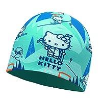 Buff 女童 Hello Kitty 超细纤维和极地帽头饰,天蓝绿色/蓝色斗篷,均码