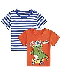 幼儿小男孩女孩套头运动衫可爱卡通 T 恤运动上衣儿童(1-6 岁)