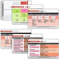 EKG 横向徽章 6张卡组 ECG测距卡 EKG尺 电心图律解 普通心脏发现 STEMI引线 12张 EKG配置(附赠作弊单)