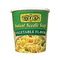 Tradition Instant Noodle Soup Cup, Vegetable, 2.29 Ounce (Pack of 12)
