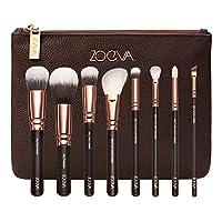 ZOEVA 純合成天然奢華化妝刷套裝,卷 1(玫瑰金)包括 8 個面部和眼部化妝刷