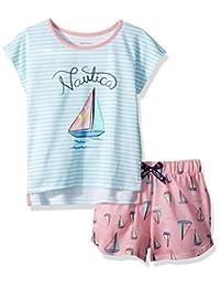 Nautica 大女童帆船短款睡衣套装