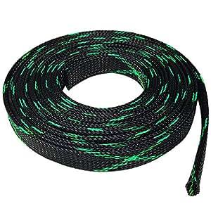 Seismic Audio - EBS-VAR - 可扩展编织线套管线袜 - 各种尺寸和颜色 100 ft x 3/4 in