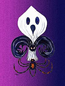 Caroline's Treasures 8608GF Halloween Ghost Fleur De Lis Flag, Small, Multicolor