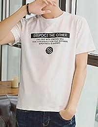 Goralon 2018夏季新款t恤男士短袖圆领纯棉潮流韩版半袖体恤修身男T个性男汗衫T恤衫潮T