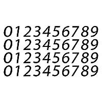 0-9 数字现代乙烯基贴纸贴花用于信箱邮箱地址房间门窗外 2.54 厘米 | 黑色