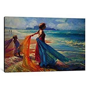 "iCanvasART Into the Surf Canvas Print by Steve Henderson, 18"" x 12""/1.5"" Deep"