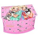 Depesche 10581 带镜子的首饰盒,TOPModel Friends 狗狗,粉红色,彩色