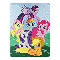 "My Little Pony,""Join the Herd""微型拉舍尔毯,46 x 60 英寸"