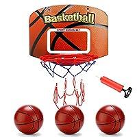 EAHUMM 儿童室内篮球框,篮球玩具,带 3 个球迷你篮球框门和墙壁,儿童篮球玩具送给孩子的礼物