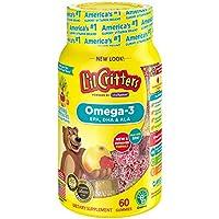 L'il Critters小熊软糖 富含 Omega-3 DHA 60 块 (2 包)