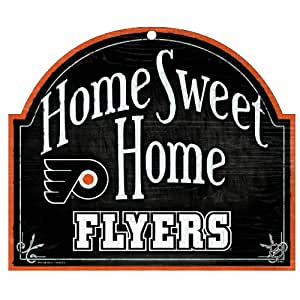 NHL Philadelphia Flyers 10-by-11 inch Wood Sign Home Sweet Home
