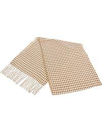 SilverHooks 柔软温暖图案羊绒围巾,带礼品盒