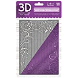 "Crafter's Companion 3D Embossing Folder 5""X7""-Textured Swirls"