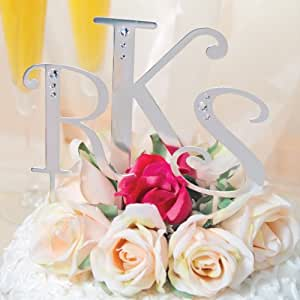 Cathy's Concepts Rhinestone Crystal Cake Topper, 4-1/4-Inch, Letter Y