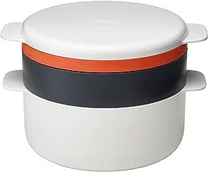 Joseph Joseph M-Cuisine 4件套 可堆叠微波炉烹饪套装 - 灰色/橙色
