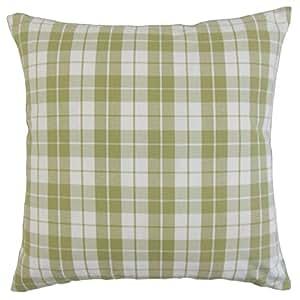 "The Pillow Collection Joss Plaid Euro Sham Sage ""Multi"" Standard/20"" x 26"" STD-M-CITATION-SAGE-C100"
