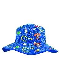 baby banz儿童男女宝宝防紫外线双面遮阳帽-蓝色怪兽婴儿0-2岁