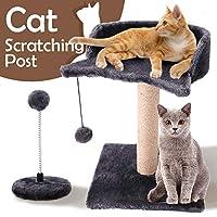 GiftParty 猫抓痕剑麻柱平台带悬挂玩具球