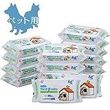【Amazon.co.jp限定】爱丽思欧雅玛 宠物用 湿巾 80张×15袋
