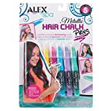 Hair Chalk Pens 5/Pkg-Metallic